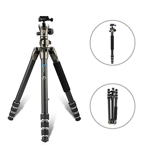 BONFOTO 671A Travel Aluminum Camera Tripod, Lightweight with 1/4