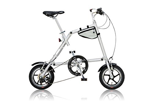 NANOO(ナノー) 折りたたみ自転車 12インチ アルミ製 シマノ7段変速 専用輸行バッグ/トライフレームバッグ付属 B00HY6CMO0  ポリッシュ