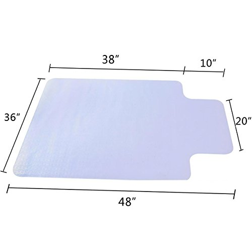 48  X 36  Pvc Home Office Chair Floor Mat 1 50Mm Thick With Lip For Wood Tile By Estoreshop