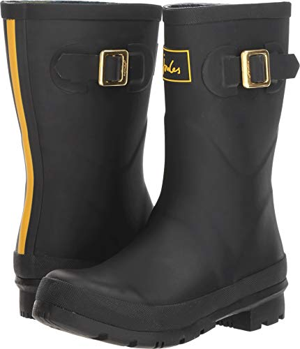 - Joules Womens Kelly Mid Height Wellies Rubber Waterproof Winter Boots - True Black - 7