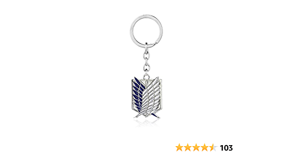 Anime Attack on Titan The Survey Corps Cosplay Keychain Key Ring Bronze Color