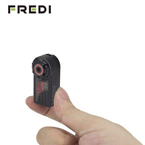 FREDI® 1920x1080P Motion Activated Portable Mini Hidden Spy Camera Full HD DV with TF/MicroSD Card Slot Night...