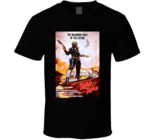Mad Max Cool 70's Vintage Classic Action Movie Poster Fan T Shirt L Black