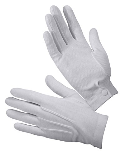 Rothco Gripper Dot White Parade Gloves, Medium -