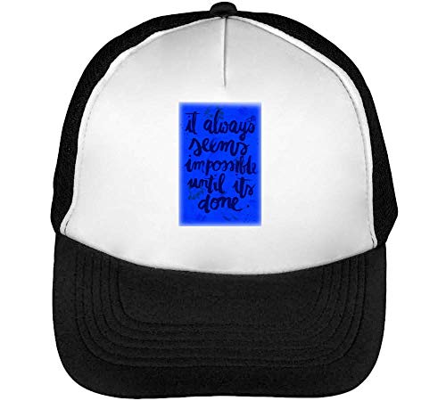 Everythings Possible Gorras Hombre Snapback Beisbol Negro Blanco