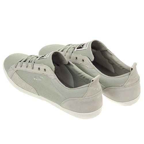 Puma - Slim Court Stripes Blocks - Color: Blanco-Gris - Size: 44.0