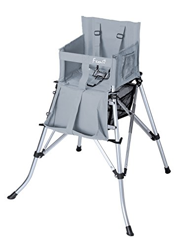 Creative Outdoor Distributors Folding High Chair, Grey