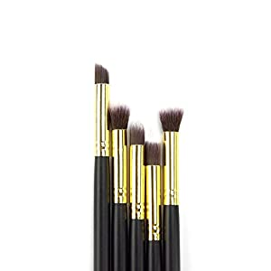 Dermatique Gold Makeup Brush Set, Beauty Blending, Face Powder, Blush Brushes Perfect for Use as Bronzer Brush, Concealer Brush, Contour Brush, Cosmetic Brush, Foundation Brush, etc. (10 pcs, Gold)
