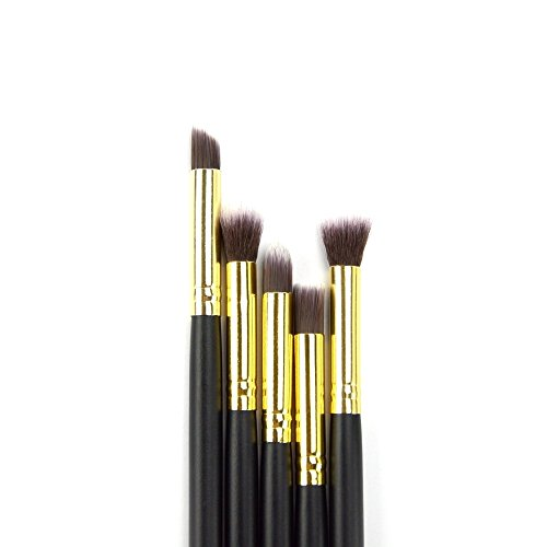 Dermatique Gold Makeup Brush Set, Beauty Blending, Face Powder, Blush Brushes Perfect for Use as Bronzer Brush, Concealer Brush, Contour Brush, Cosmetic Brush, Foundation Brush, etc. (10 pcs, Gold)