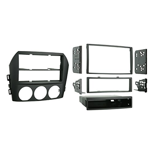 Metra 99-7506 Single DIN/Double DIN Installation Kit for 2006-2008 Mazda Miata MX-5 Vehicles (Black) (Miata Radio Installation Kit)