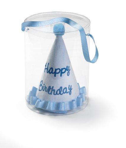 Mud Pie Baby Little Prince Seersucker Birthday Hat, Blue