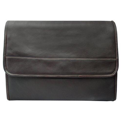 Piel Leather Envelope Portfolio, Chocolate, One Size