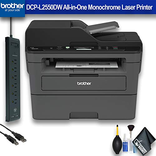 Brother DCP-L2550DW All-in-One Monochrome Laser Printer (DCP-L2550DW) Office Bundle ()