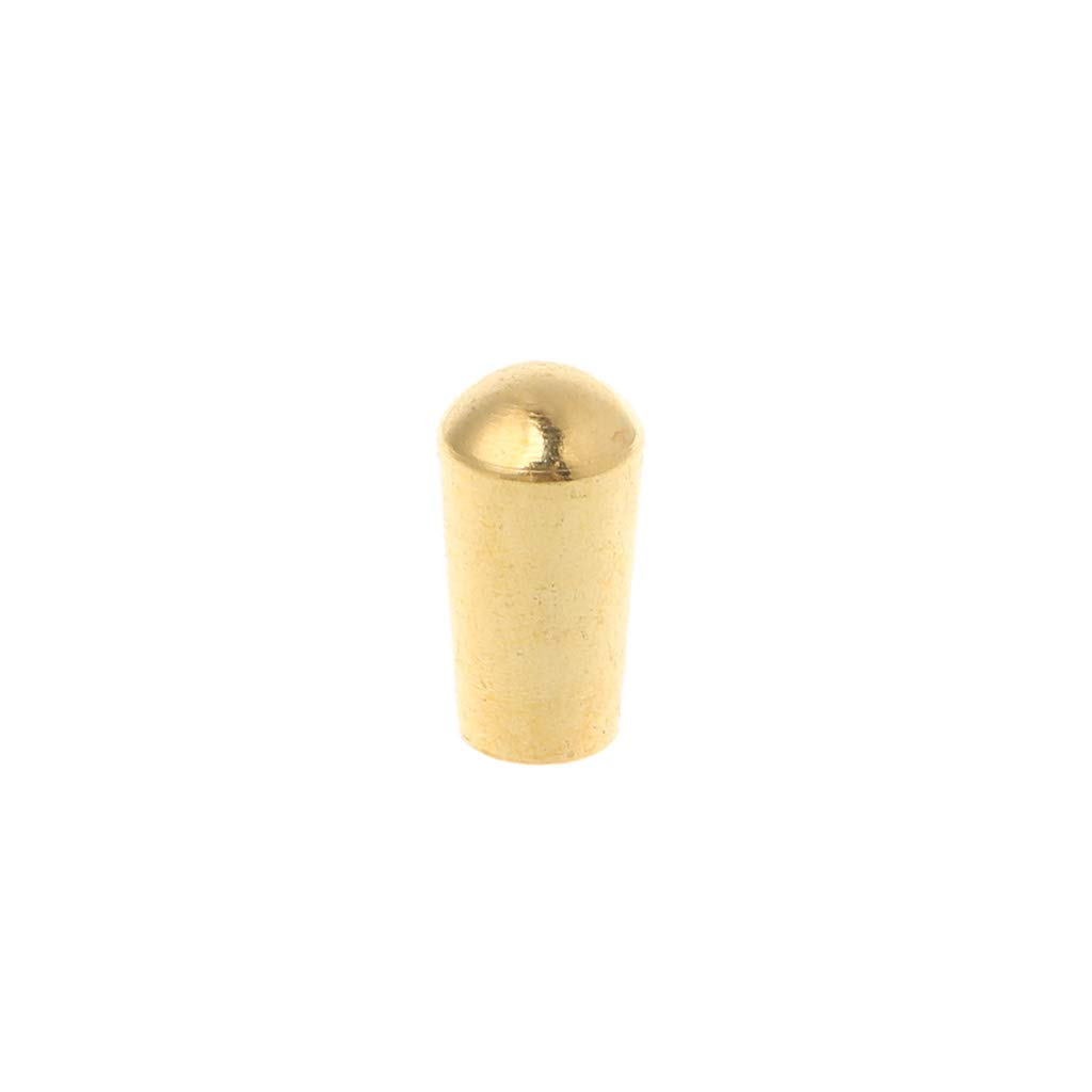 JAGENIE Internal Thread 3.5mm Brass Electric Guitar Toggle Switches Knobs Tip Cap Button