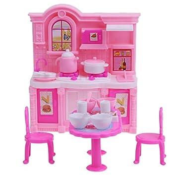 Strange Amazon Com Dollhouse Kitchen Simulation Barbie Furniture Download Free Architecture Designs Itiscsunscenecom