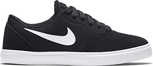 NIKE Kids SB Check (GS) Skate Shoe (5.5 Big Kid M, Black/White) (Sb Shoes Nike Youth)