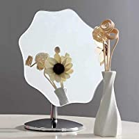 DISHIN Metal Desk Table Standing Vanity Star Shape Mirror for Makeup, 1pc