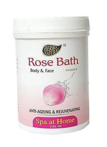 - Herbo Natural Ayurvedic Rose Bath Powder -100 g/3.52 oz (Pack of 1)