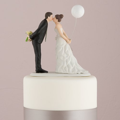 Weddingstar Leaning in for a Kiss Couple Figurine