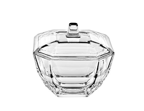 (Barski - European - Glass - Octagon - Covered Candy - Nut- Chocolate - Jewelry Box - 4.3
