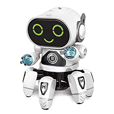 OceanEC Mechanical Robot Toy, Kids Electric Walking Dance Robot Toy with LED Light and Music for Boys Girls Toddlers