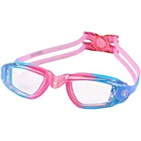 Swim Goggles, No Leaking Anti Fog UV Protection Waterproof Swimming Goggles with Free Protection Case for Kids Youth…
