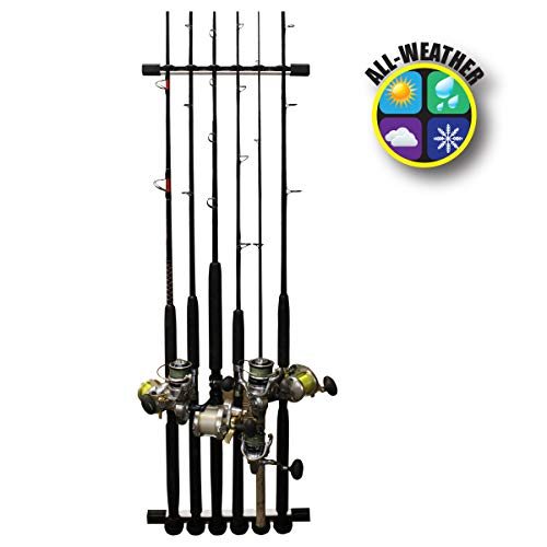 Rush Creek Creations 3 in 1 Fishing Rod/Pole Storage Wall/Ceiling Rack