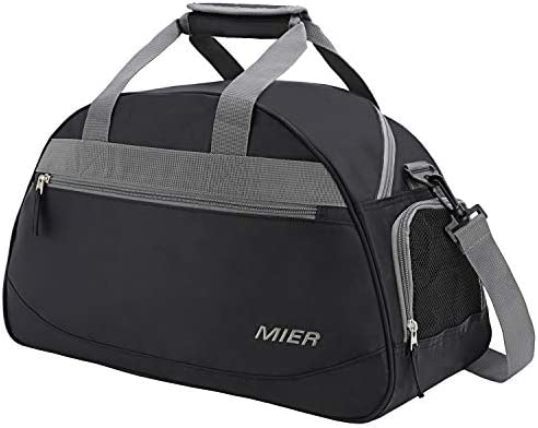 MIER 20 Inches Sports Gym Bag Travel Duffel Bag with Shoes Compartment for Women, Men