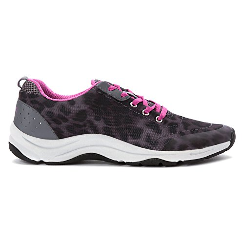 Vionic mujer de acción Tourney Lace Up Sneaker Grey Leopard
