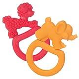 Two Vanilla Teething Rings – Pink Poodle/Orange Elephant, Baby & Kids Zone