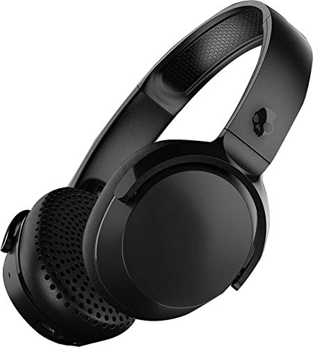 Skullcandy Riff Wireless On-Ear Headphones with Microphone, Bluetooth Wireless, Rapid Charge 10-Hour Battery Life, Foldable, Plush Ear Cushions with Durable Headband, Vice/Gray/Crimson