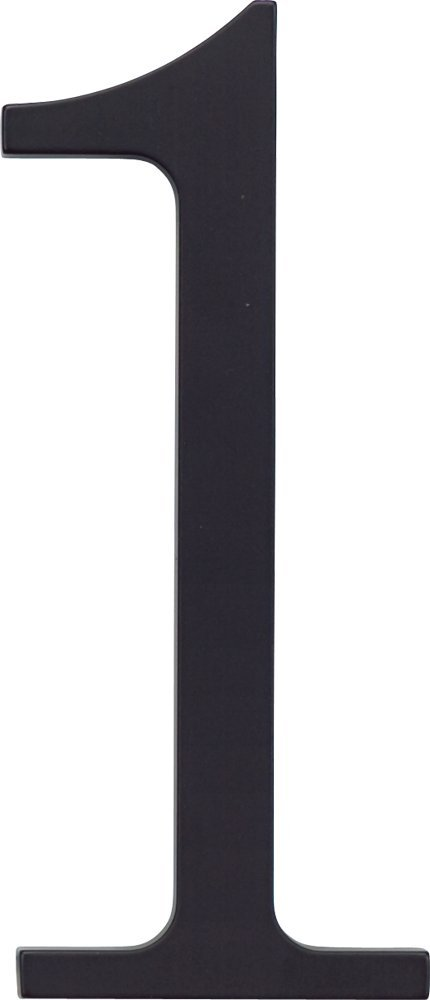 Atlas Homewares TRN6-BL 6-Inch The Traditionalist House Number-6, Matte Black
