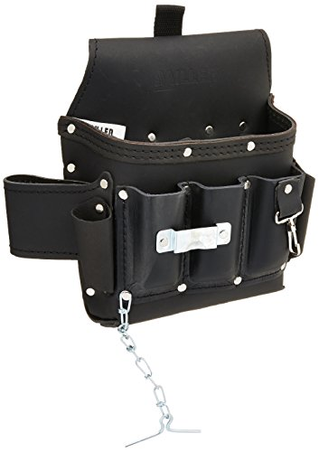 Miller RIA-T11/1 Leather Utility Tool Bag for Revolution Harness, Black
