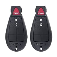 ECCPP 2X 3 Button Replacement Uncut Keyless Entry Remote Key Fob for Chrysler Dodge Volkswagen Series M3N5WY783X 433MHz