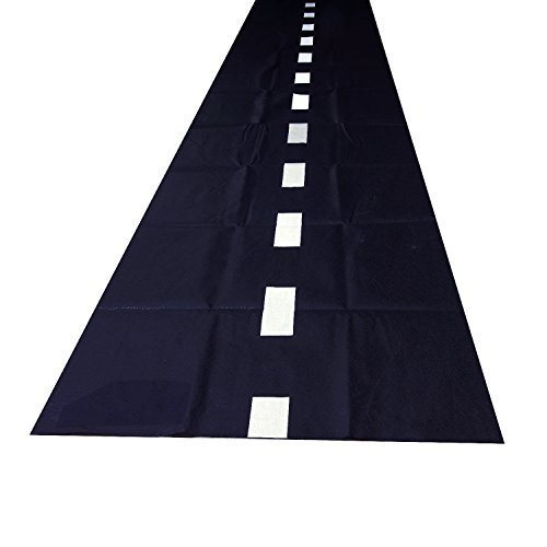 10ft Long Racetrack Floor Running Racer Party Decoration Mat Drag Race Car Road Go Kart Theme Birthday Games (2ft Wide) by Super Z Outlet