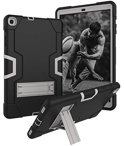 Samsung Galaxy Tab A 10.1 Inch Tablet 2019(SM-T510/T515) Case, Yoomer Three Layer Kickstand Silicone+Hard PC Bumper Armor Defender Heavy Duty Shock-Absorption Rugged Hybrid Full Body Protective ()