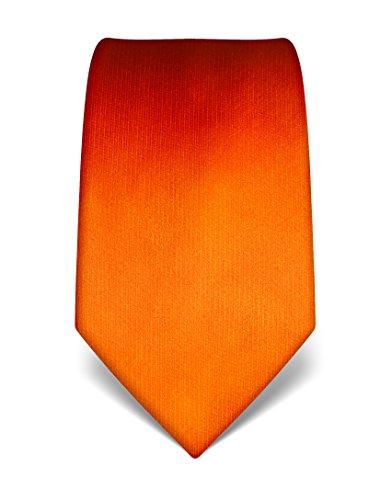 Vincenzo Boretti Men's Silk Tie - plain colored - many colors (Christmas Silk Necktie)