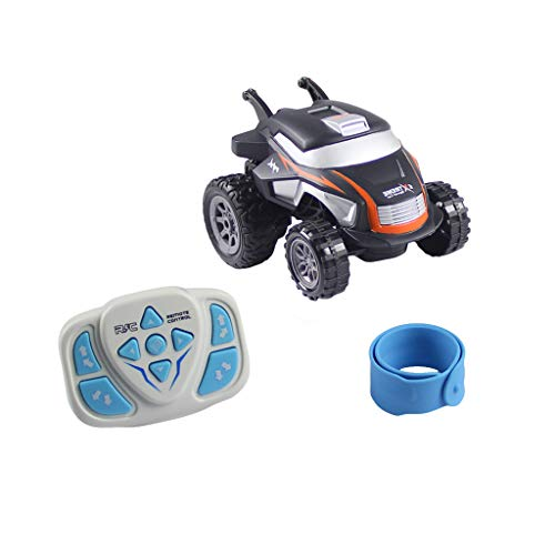 Baomabao Watch Remote Control Stunt Car,Children's Remote Control Car,2.4G Tumbling Stunt Dump Truck,Control The Direction of The Car,Colorful Lights (Orange)