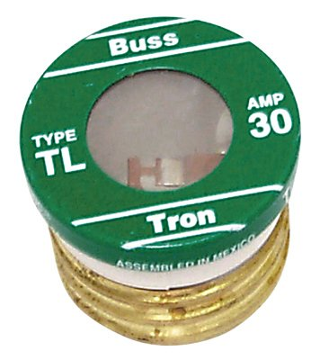 Cooper Bussmann BP/TL-30 Plug Fuse, Type TL, Time Delay, 30-Amp, Must Purchase 3-Pk. In Quantities of 5 - Quantity 5