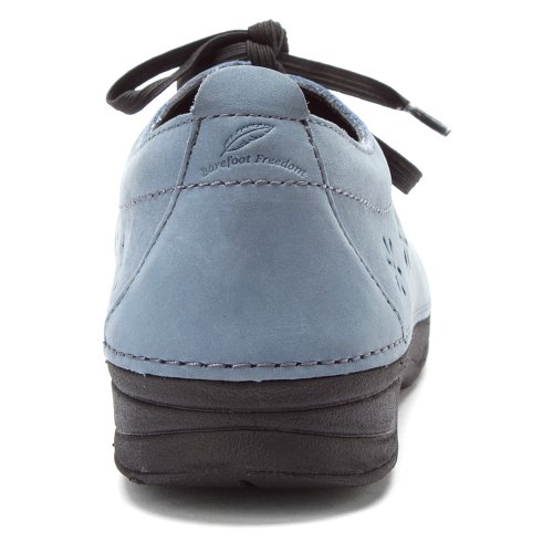 Scarpe Da Donna Disegnate Layla In Pizzo Sandalo Blu Nabuk