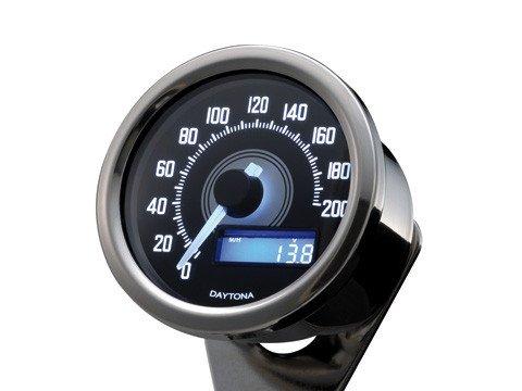 60 mm tachimetro digitale rotondo universale motocicletta Cafe Racer Bopper Streetparts24