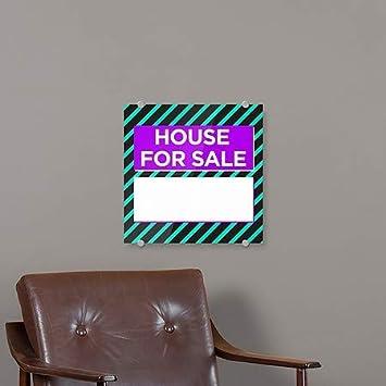 House for Sale CGSignLab Modern Block Premium Acrylic Sign 16x16 5-Pack
