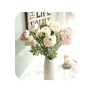 10PCS Home Decoration European Rural Silk Artificial Tea Rose Camellia Bouquet Fake Flowers Desktop for Wedding Party Decor 106
