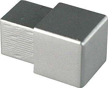 mat/ériau solide la surface ne peut pas se d/étacher PR/ÉMIUMcoin ext/érieur H: 12,5mm quart de rond aluminium argent p/âle