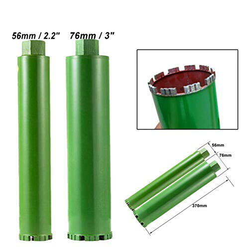 SUDEG 2.2″3″Wet Diamond Core Drill Bit for Concrete Outdoor- Premium Green Hand-held for Reinforced Concrete Brick Wall Core Drilling Air Conditioning Installation