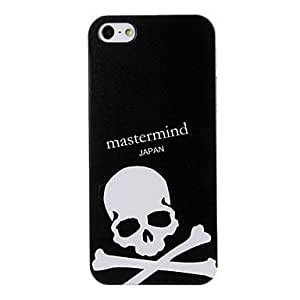 RC - White Skull Pattern Black Plastic Hard Case Cover for iPhone 5/5S