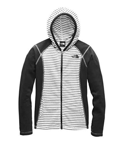 - The North Face Kids Girl's Glacier Full Zip Hoodie (Little Kids/Big Kids) TNF White/Mini Stripe Print Small