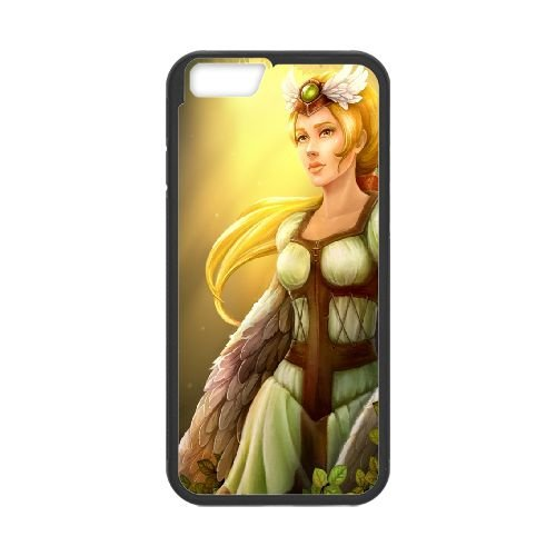 Summer Girl Fantasy Northern Tale Tales North Vikings Blonde 65348 coque iPhone 6 4.7 Inch cellulaire cas coque de téléphone cas téléphone cellulaire noir couvercle EEECBCAAN05457