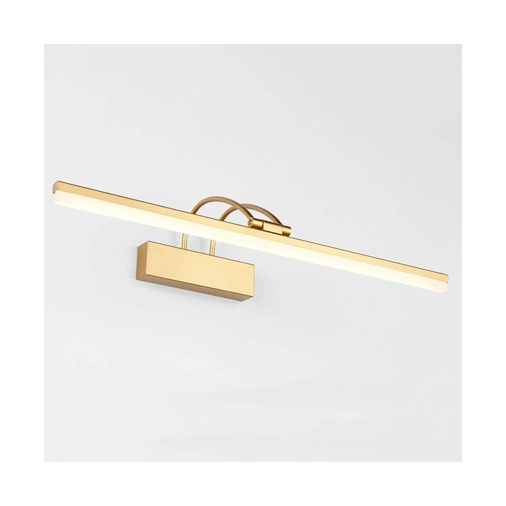 @Badezimmer Lichter LED Spiegel Scheinwerfer Wandleuchte Bad Spiegel Kabinett Lampe Spiegel Scheinwerfer Make-Up Lampe Kipphebel Schwarz Deckenleuchte (Farbe   Warmes weißes Licht-71CM)