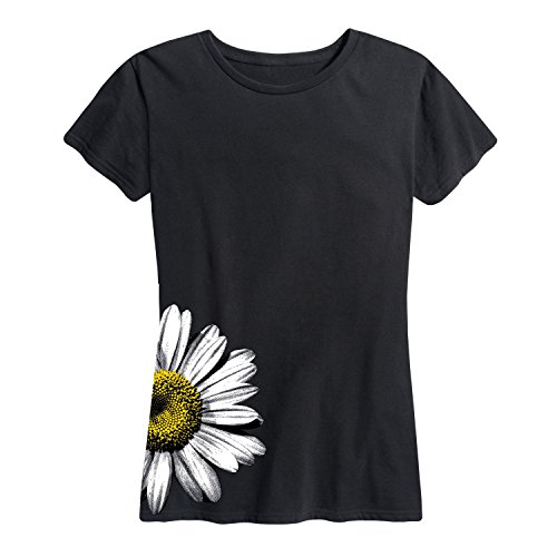 - Instant Message Daisy Side Hit - Ladies Short Sleeve Classic Fit Tee